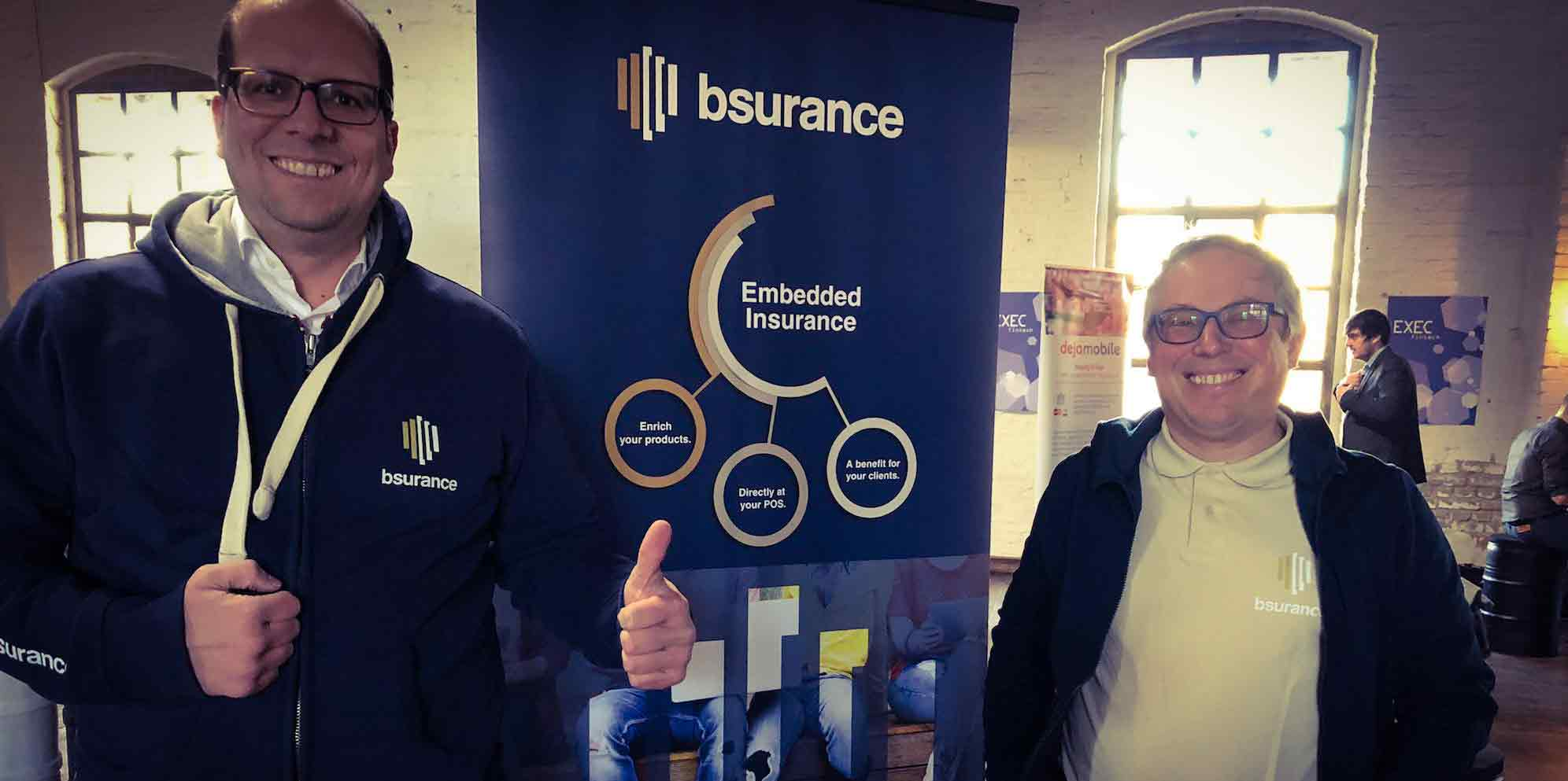 Team bsurance at the booth