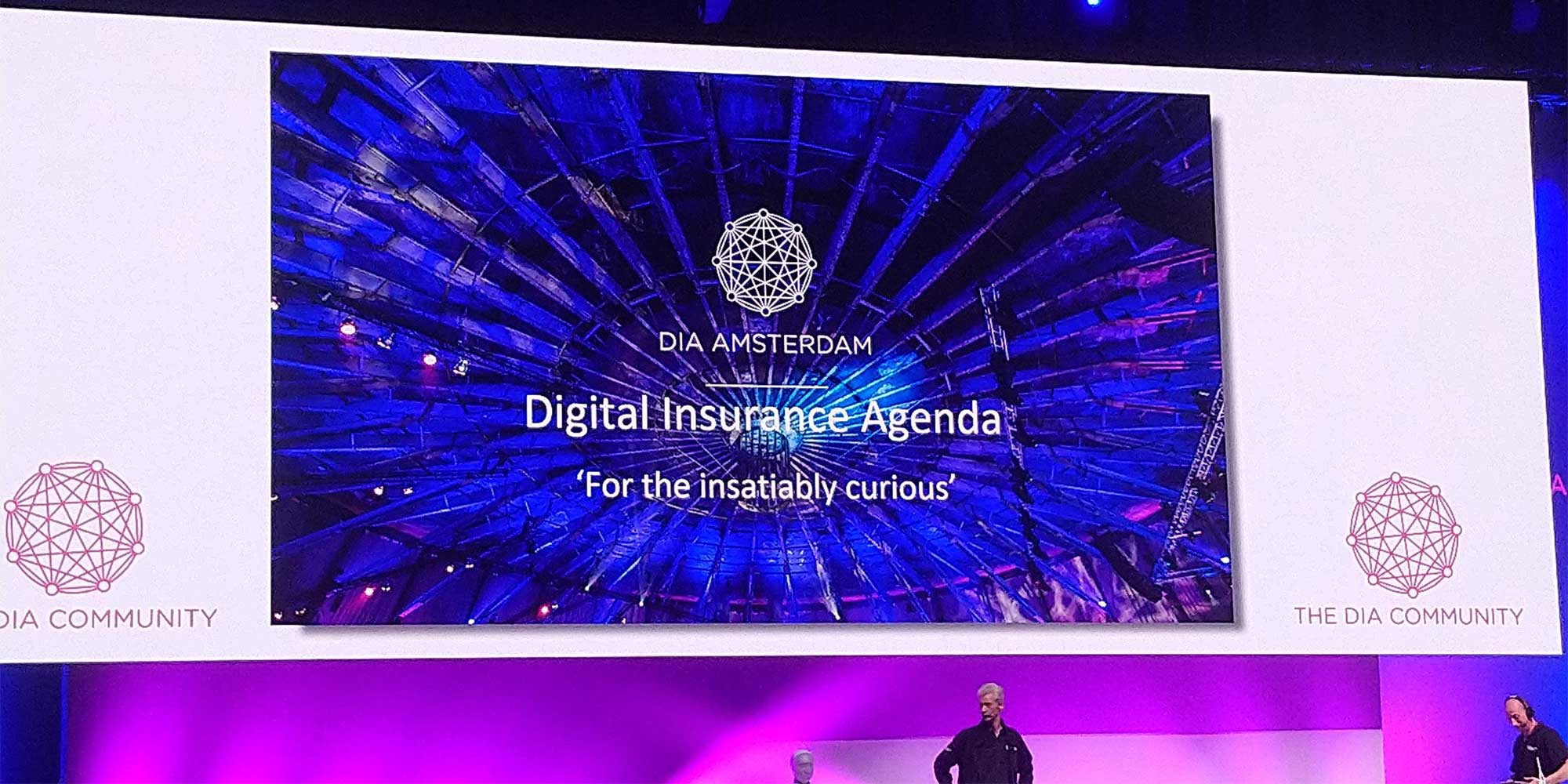 The stage of the Digital Insurance Agenda Amsterdam 2019