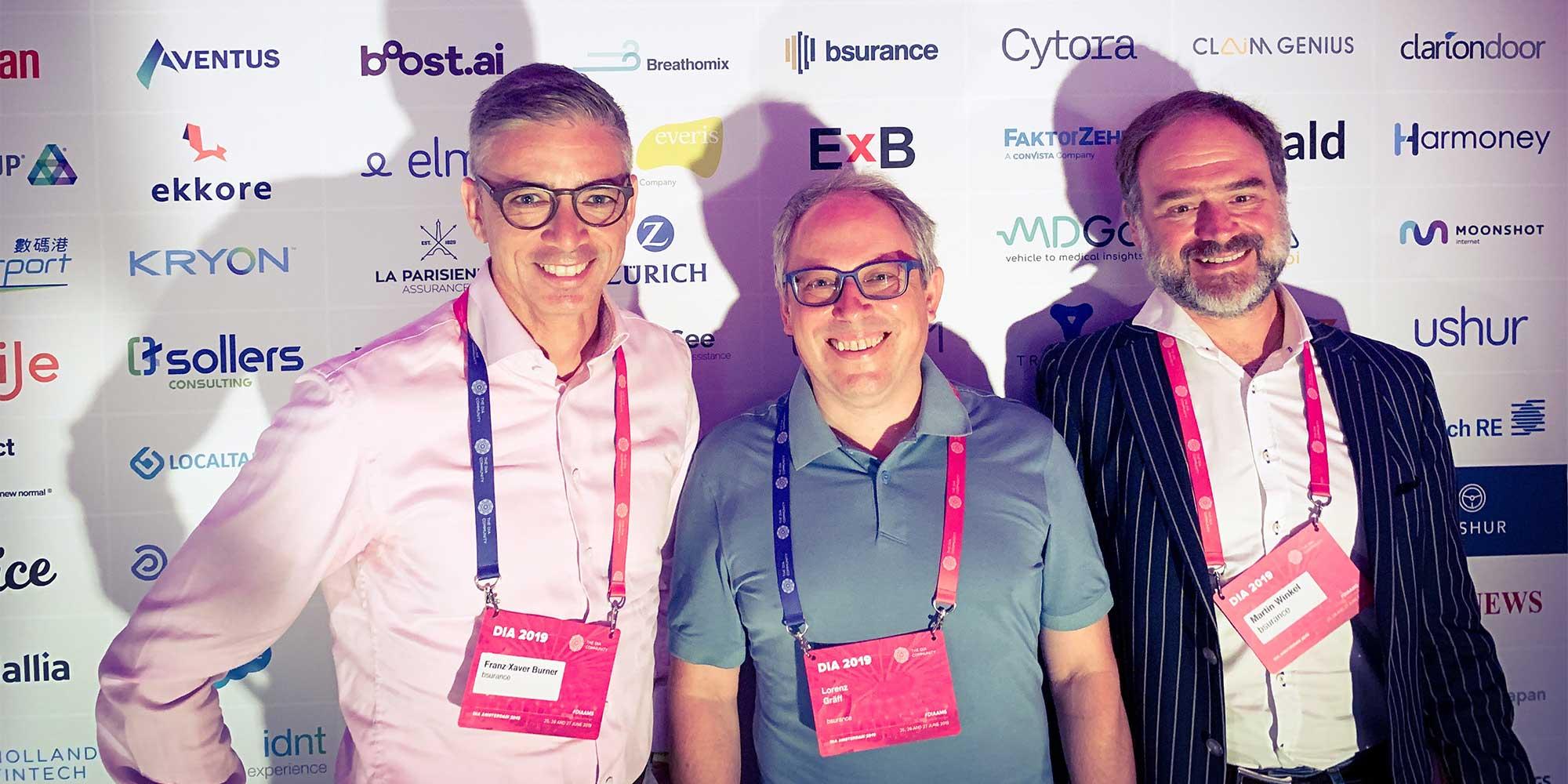 Team bsurance auf der Digital Insurance Agenda Amsterdam 2019