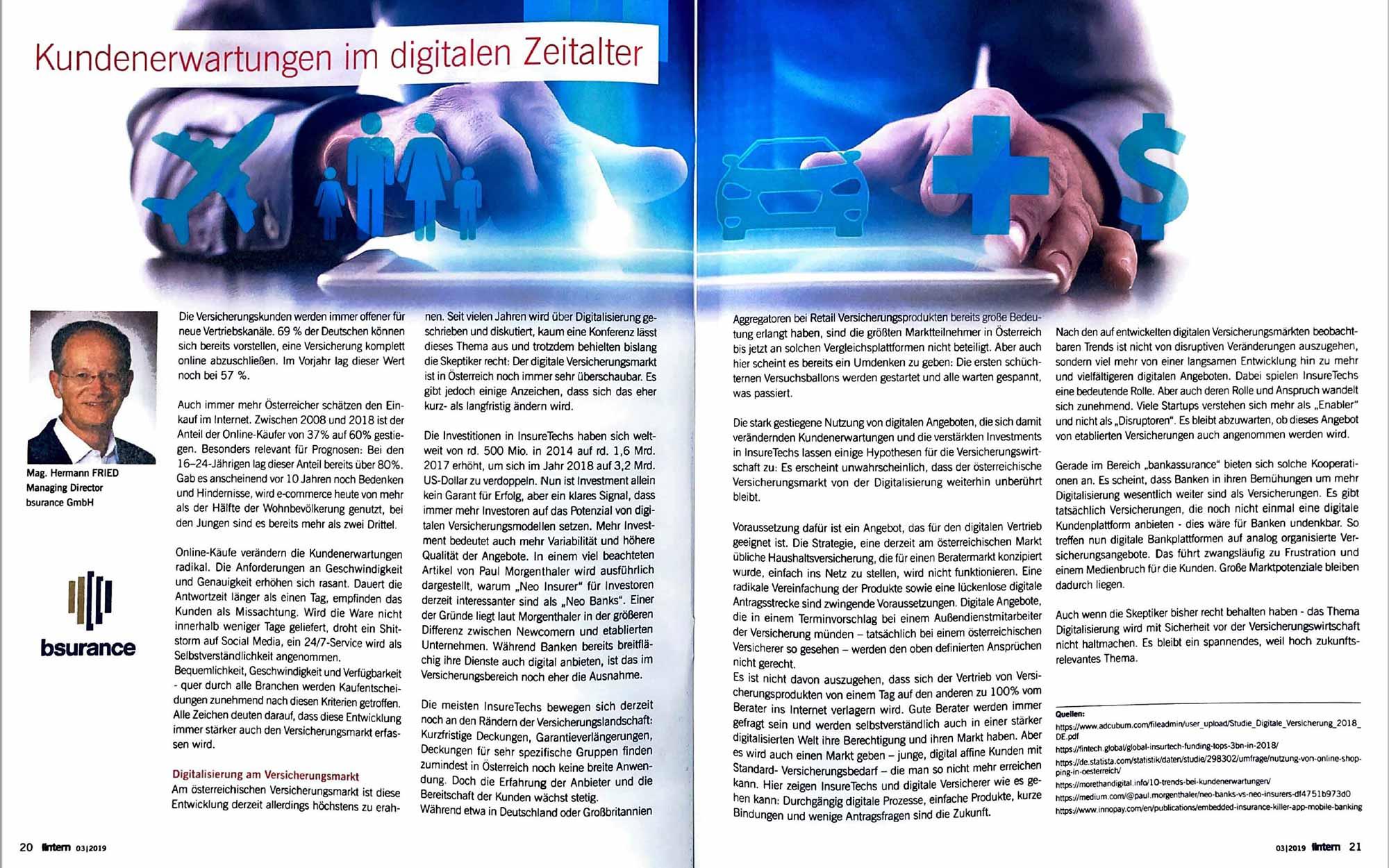 Kundenerwartungen im digitalen Zeitalter, Makler Intern, ÖVM, Hermann Fried